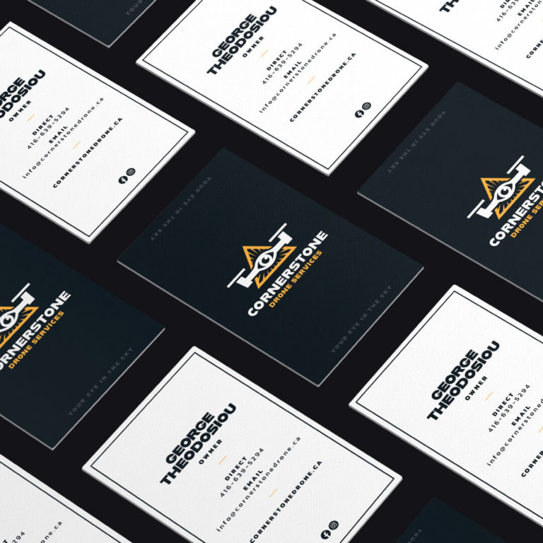 Cornerstone Drone Services Business Cards