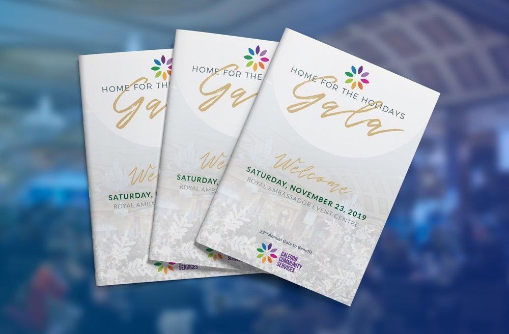 Holiday Gala Program Graphic Design