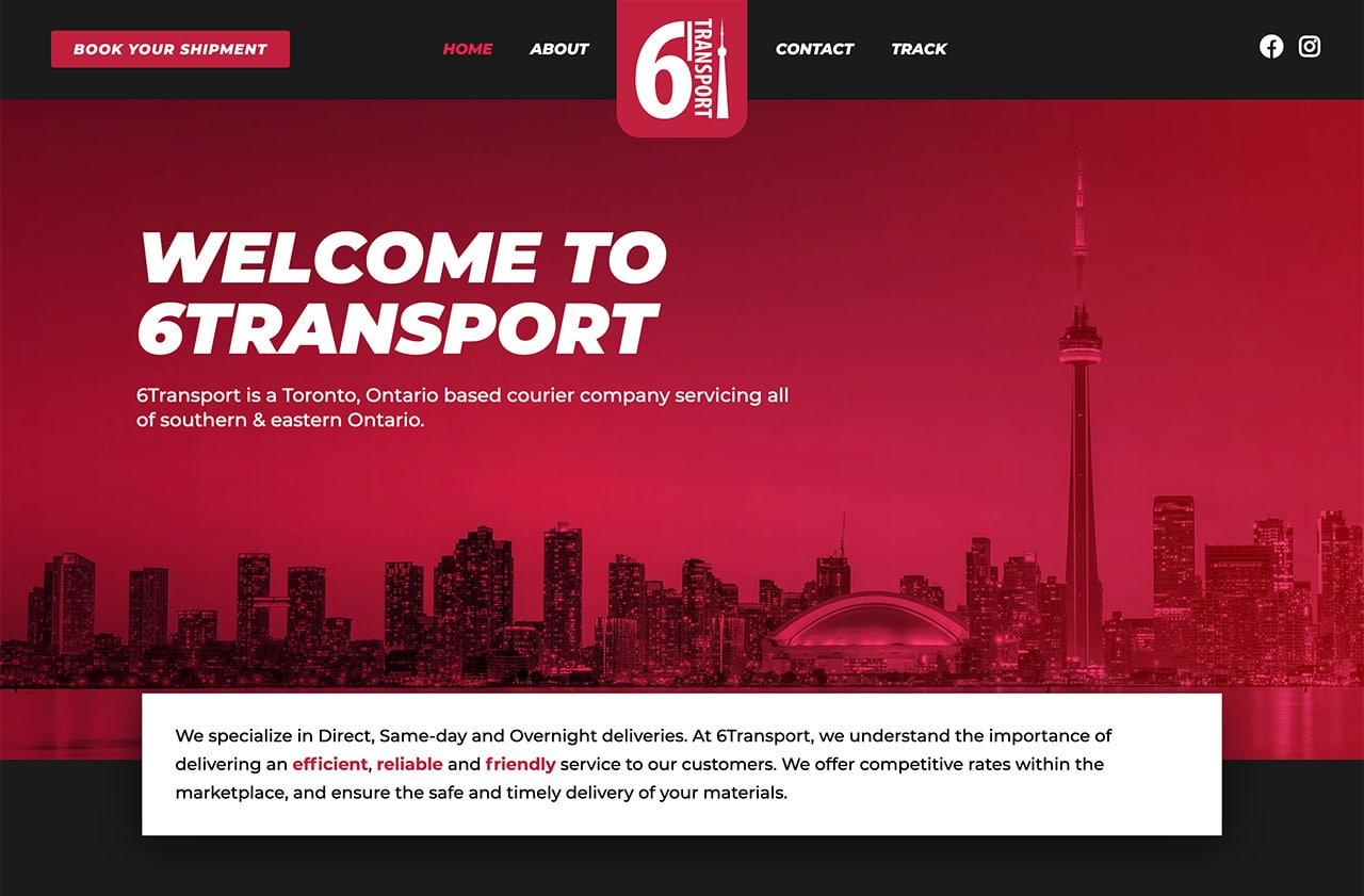 6Transport Website Design