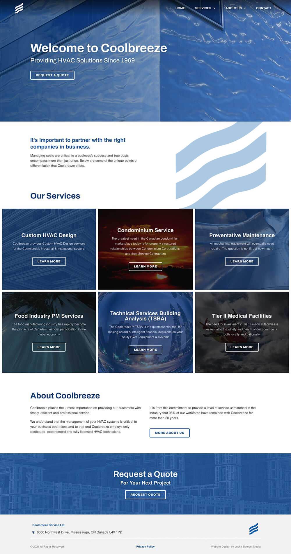 Coolbreeze Website